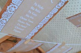 Table plan for Hessian and Lace wedding